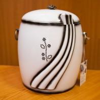 UK100 Swarovski köves fehér urna