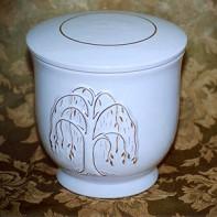 Kerek arany fűzes urna