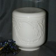 Kerek virágos urna