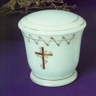 Üveg keresztes urna
