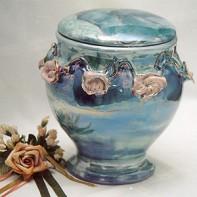 Zsolnay virágfüzéres urna