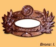 Bronz sírjelző I.